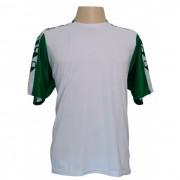 Fardamento Profissional - Jogo de camisa modelo Udine com 12 pe�as Branco/Verde - Frete Gr�tis Brasil + Brindes