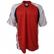 Camisa Promocional Modelo Lotus Vermelho/Preto/Branco com N�mero 10
