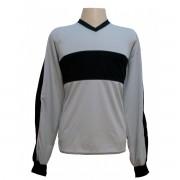 Camisa de Goleiro modelo Florenci n�mero 1 Cinza/Preto