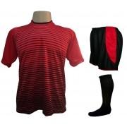 d05ff6d488177 Fardamento Completo modelo City 12+1 (12 Camisas Vermelho Preto + 12 Calções