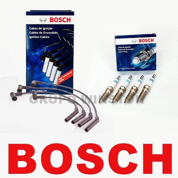 Kit Cabos E Velas Bosch Fiesta Ka Ecosport 1.0 Zetec Rocam F00099C076 | F000KE0P45 consulte aplicação