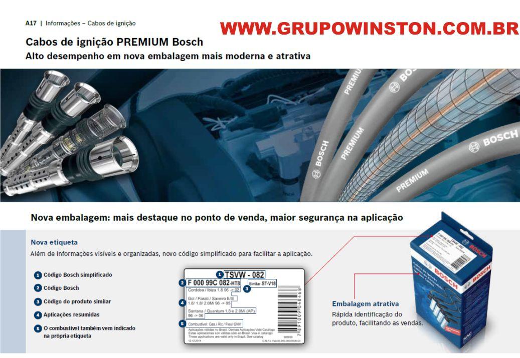 Cabos Bosch Gm Agile Cobalt Meriva Prisma 1.4 Flex F00099C012 consulte aplicação