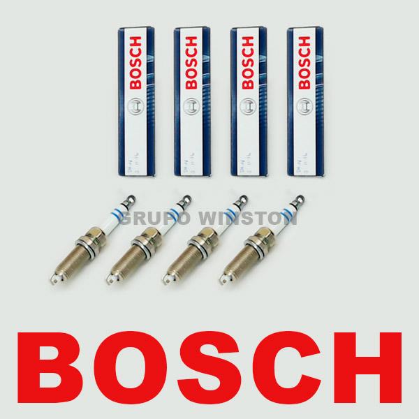Jogo De 4 Velas Bosch 0242140530 Peugeot 206 Nissan March