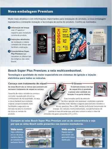 Jogo De 6 Velas Bosch 0242245558 Spider 3.0 Pajero Galant V6