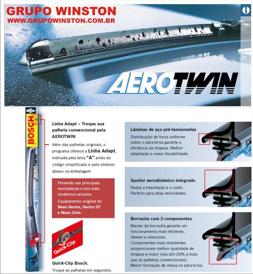 Palheta Limpador de Parabrisa Original Bosch Aerotwin Nissan Frontier 97 a 2007 Pick-Up D21 87 a 97 X-Terra 2003 a 2008