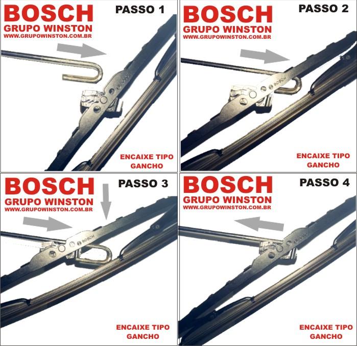 PALHETA LIMPADOR DE PARABRISA ECO ORIGINAL BOSCH 22' / 19' Consulte a aplicação.