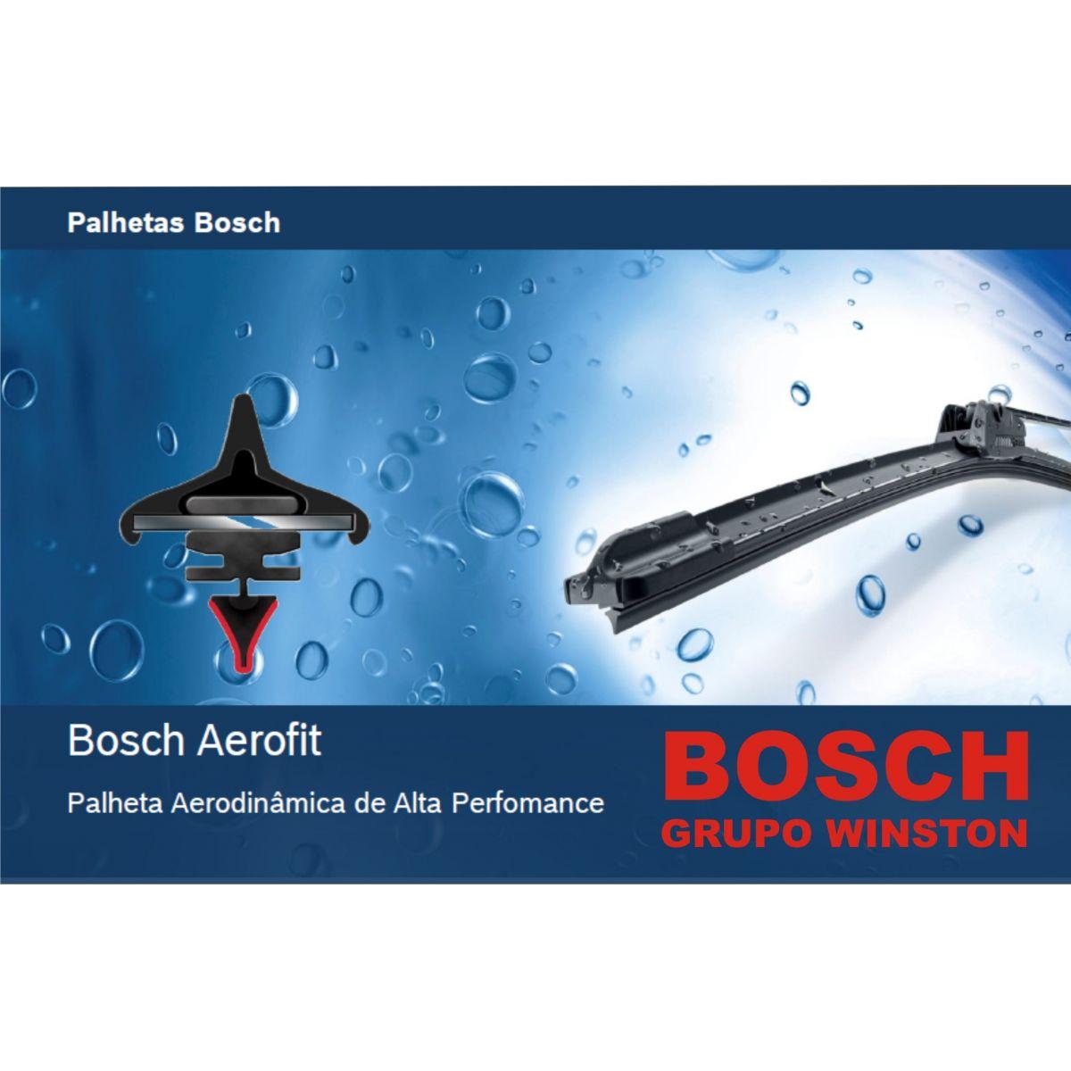 Palheta Bosch Aerofit Limpador de para brisa Bosch Omega II 1998 até 2007