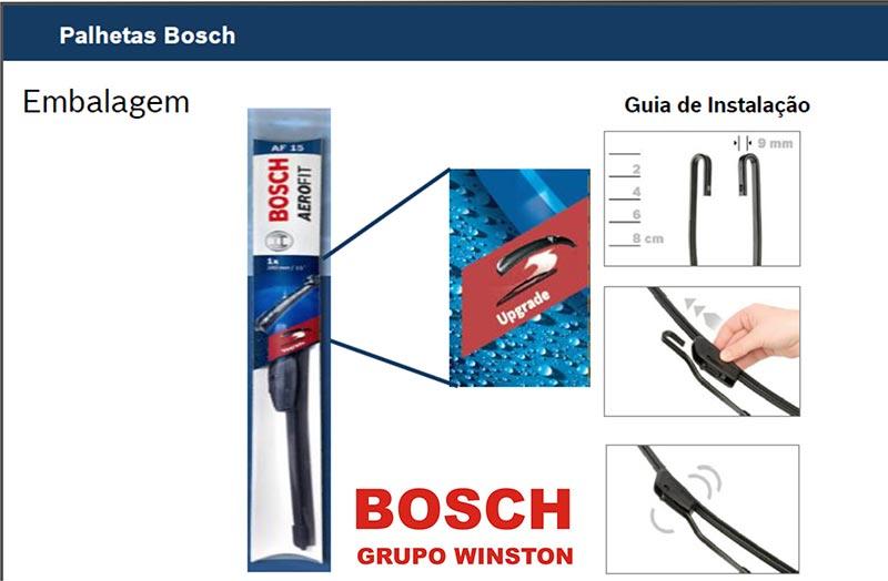 Palheta Bosch Aerofit Limpador de para brisa Bosch Audi 80 / Avant / Cabriolet A4 RS2 Avant RS4 Avant S4