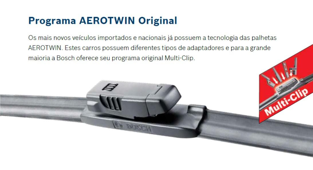 PALHETA LIMPADOR DE PARABRISA AEROTWIN ORIGINAL BOSCH BMW Série I