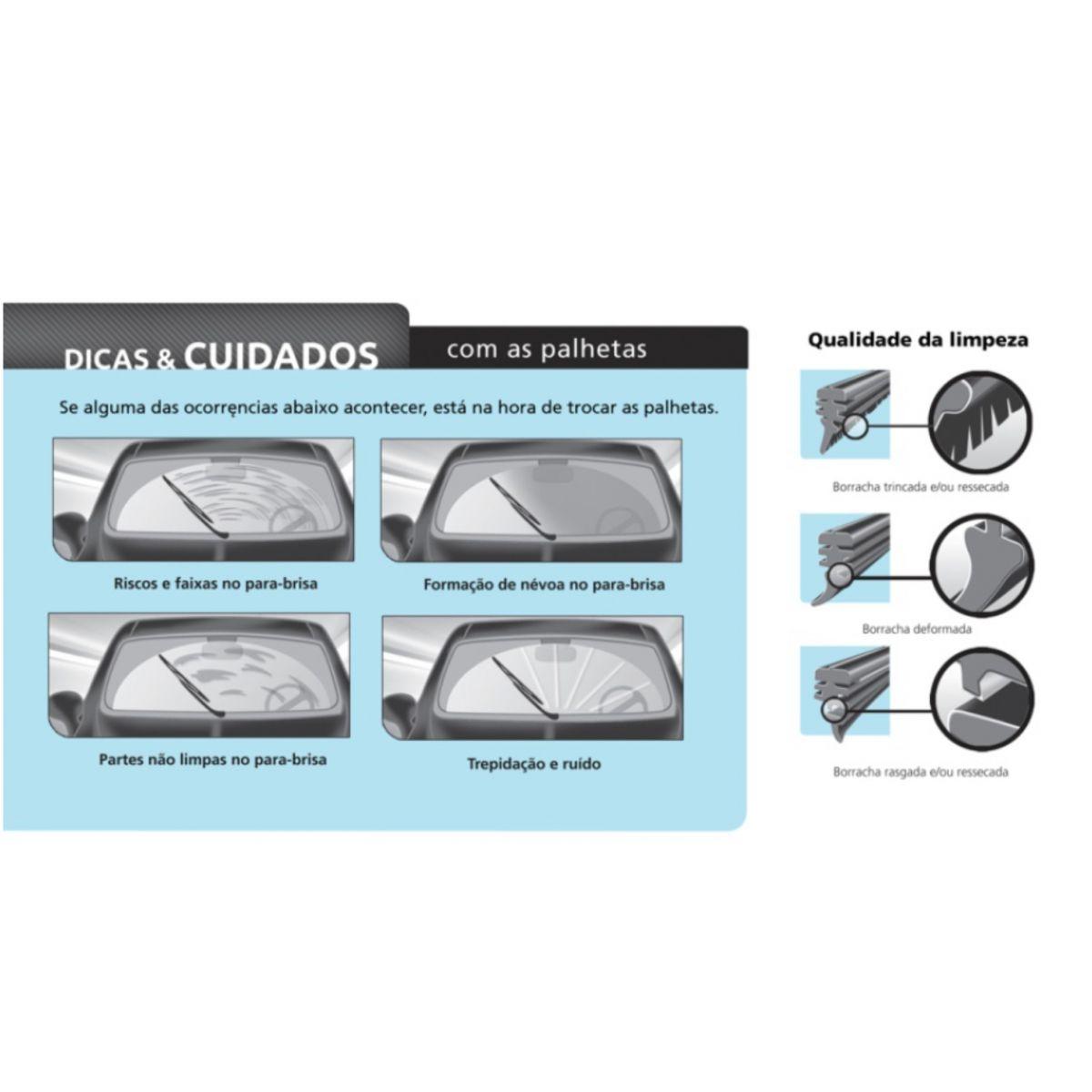 Par Palhetas Limpador Parabrisas Original DYNA SD5 GM S10 2012 em diante