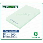 Papel Autocopiativo CF  Verde  218x318 - 250 Fls.