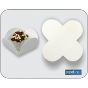 Forminhas p/ doces  Branca - 3,50x3,50 - Pct. 50 Un.