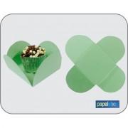 Forminhas p/ doces  Verde - 3,50x3,50 - Pct. 50 Un.