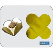 Forminhas p/ doces  Ouro- 3,50x3,50 - Pct. 50 Un.