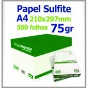 Sulfite A/4 - 210x297 - 75g - Cx. c/ 10 Pct 500 Fls.