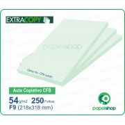 Papel Autocopiativo CFB  Verde  218x318  - 250 Fls.