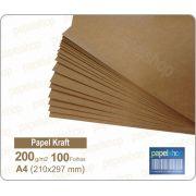 Papel Kraft - 200 gr. - A4 (210x297mm) - 100 fls.