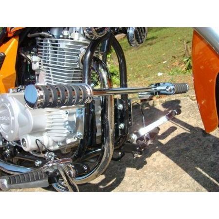 Protetor de  Motor Com Pedaleiras DALAVAS para Kansas 150  - Fabiana Dubinevics - Ofertão Virtual
