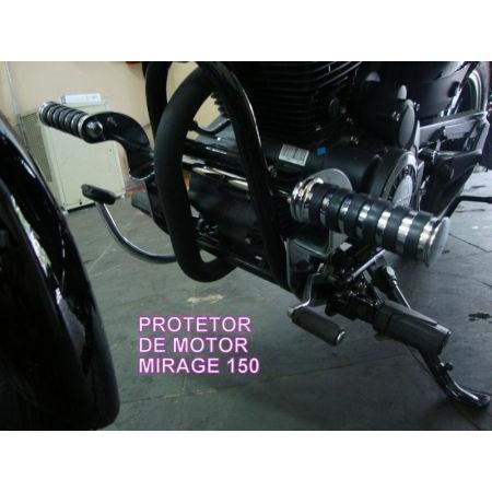 Protetor de Motor com Pedaleiras Dalavas para Mirage 150cc  - Fabiana Dubinevics - Ofertão Virtual
