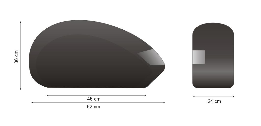 Alforjes Lateral em Fibra Modelo BM9000 com suporte  - Fabiana Dubinevics - Bult do Brasil