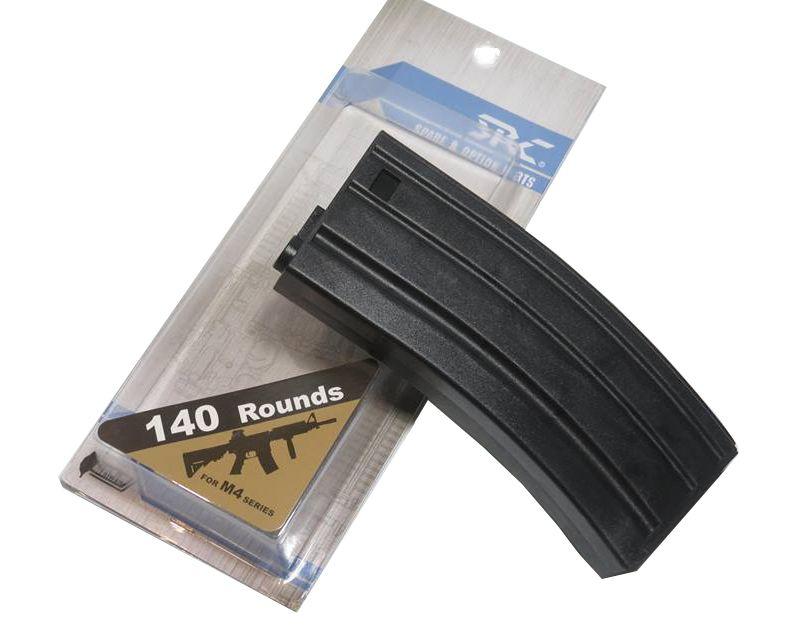 Magazine Plástico SRC Mid-cap M4/M16 140BBs (cor: Preta)