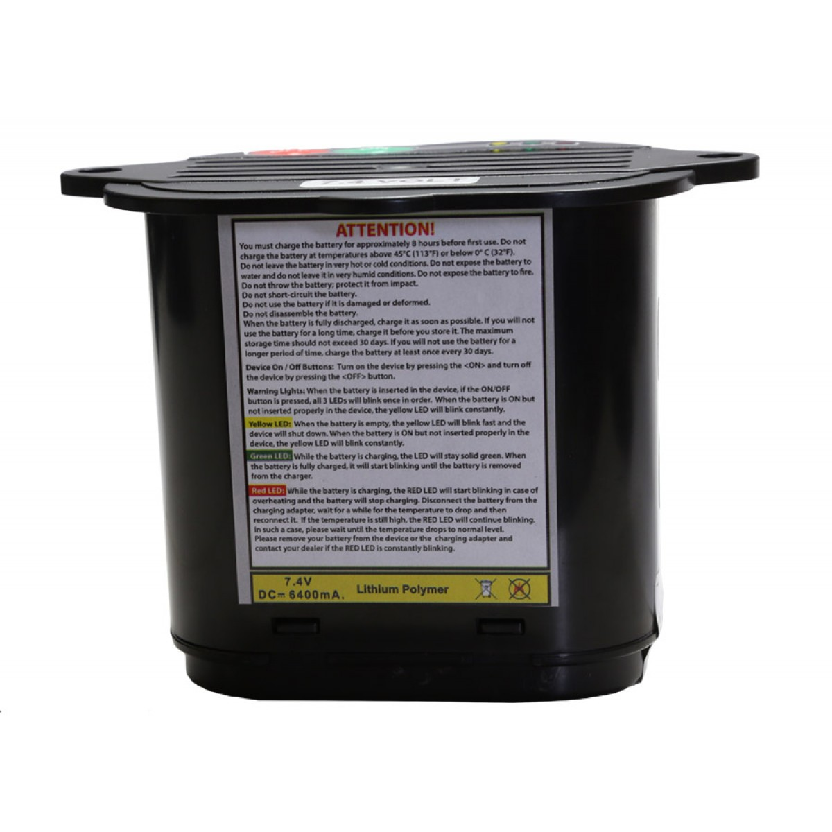 Bateria de polímero de lítio Nokta de 7,4V 6400mAh para Golden King  - Fortuna Detectores de Metais
