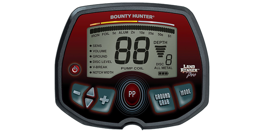 Detector de Metais Bounty Hunter Land Ranger PRO  - Fortuna Detectores de Metais