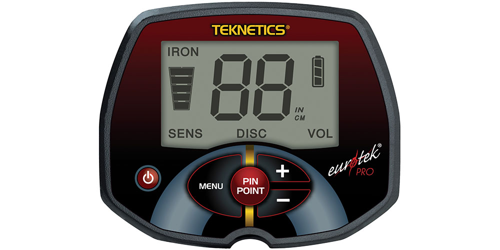 Detector de Metais Teknetics EurotekPro  - Fortuna Detectores de Metais