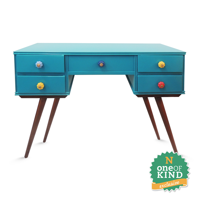 Artesanato Arame ~ Aparador Azul Turquesa Pé Palito 5G Vintage N Store Móveis e Decoraç u00e3o