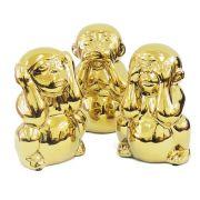 Conjunto Macacos em Cerâmica
