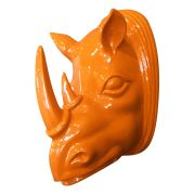 Cabeça Rinoceronte Laranja