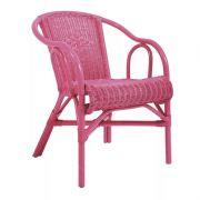 Cadeira Com Braço Vime Beach Rosa