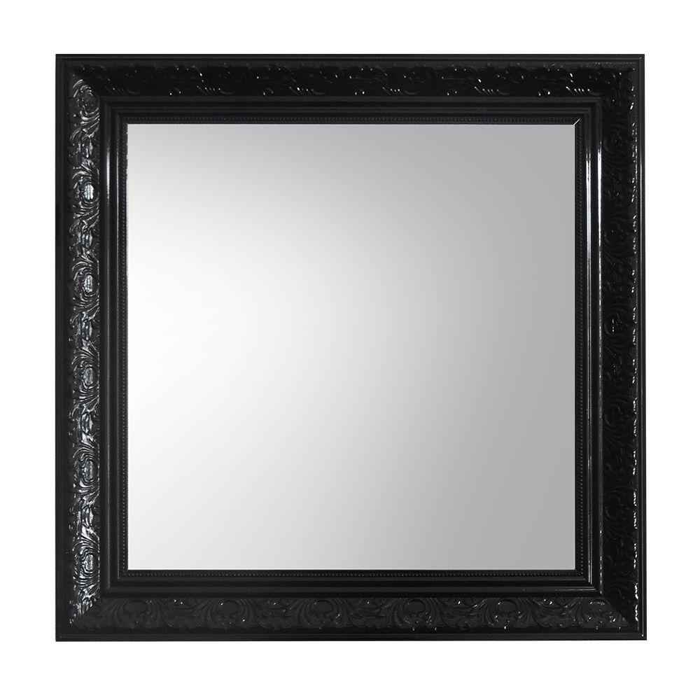 Espelho Médio Quadrado com Moldura Preta  - N Store