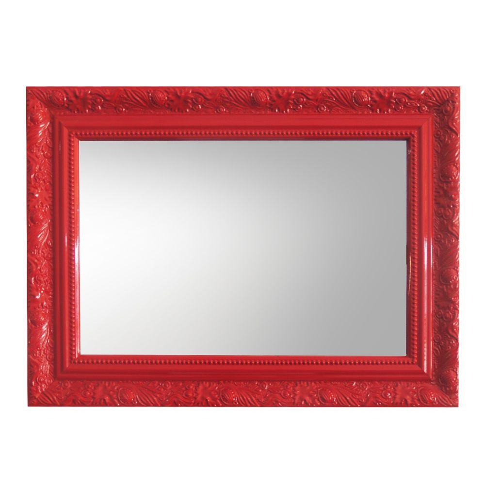 Espelho Pequeno com Moldura Vermelha  - N Store