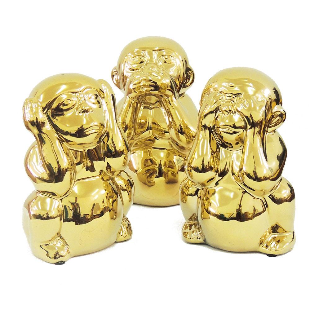 Conjunto Macacos em Cerâmica  - N Store