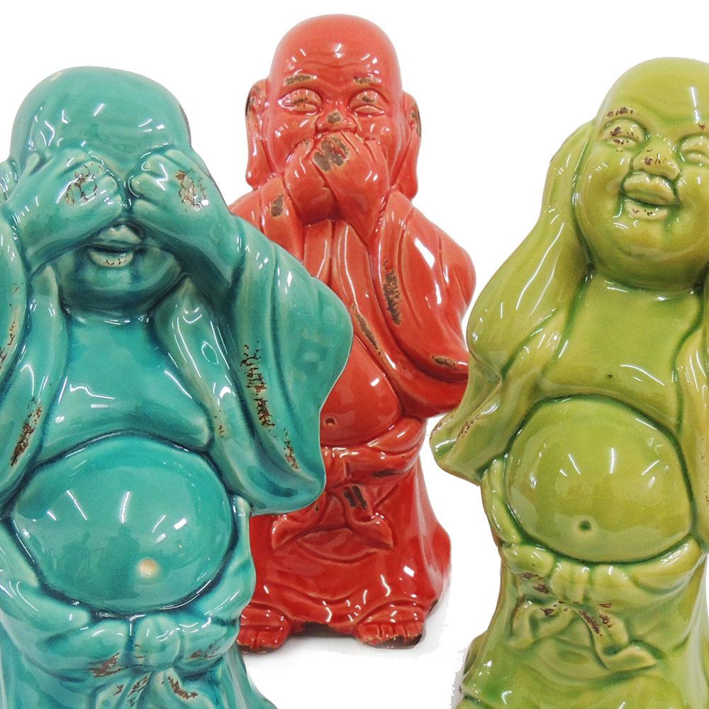 Conjunto Budas cerâmicas pensadores  - N Store