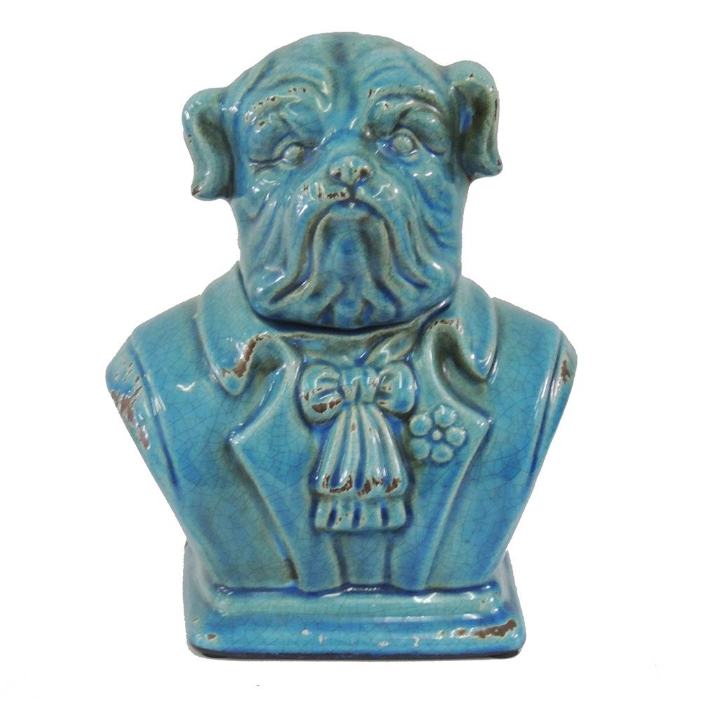 Cachorro Clássico de Cerâmica (pote com tampa) - Azul  - N Store