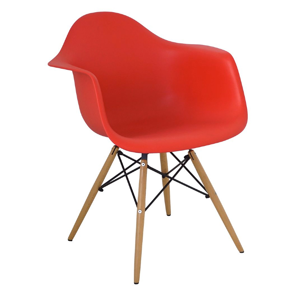 Cadeira Charles Eames Com Braço Base Madeira  - N Store