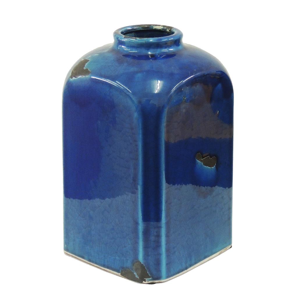 Vaso Quadrado  Azul   - N Store