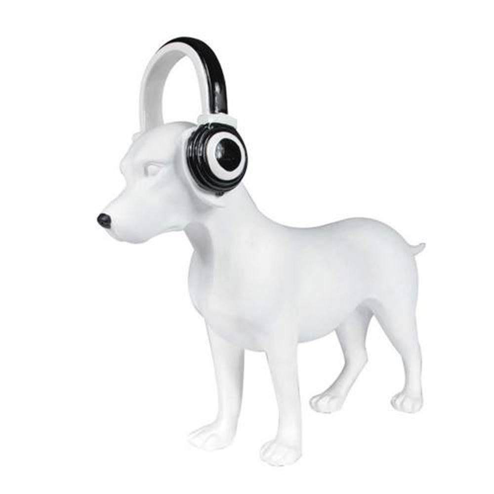 Estatueta Dog with Headphones White - Cachorro com fone  - N Store