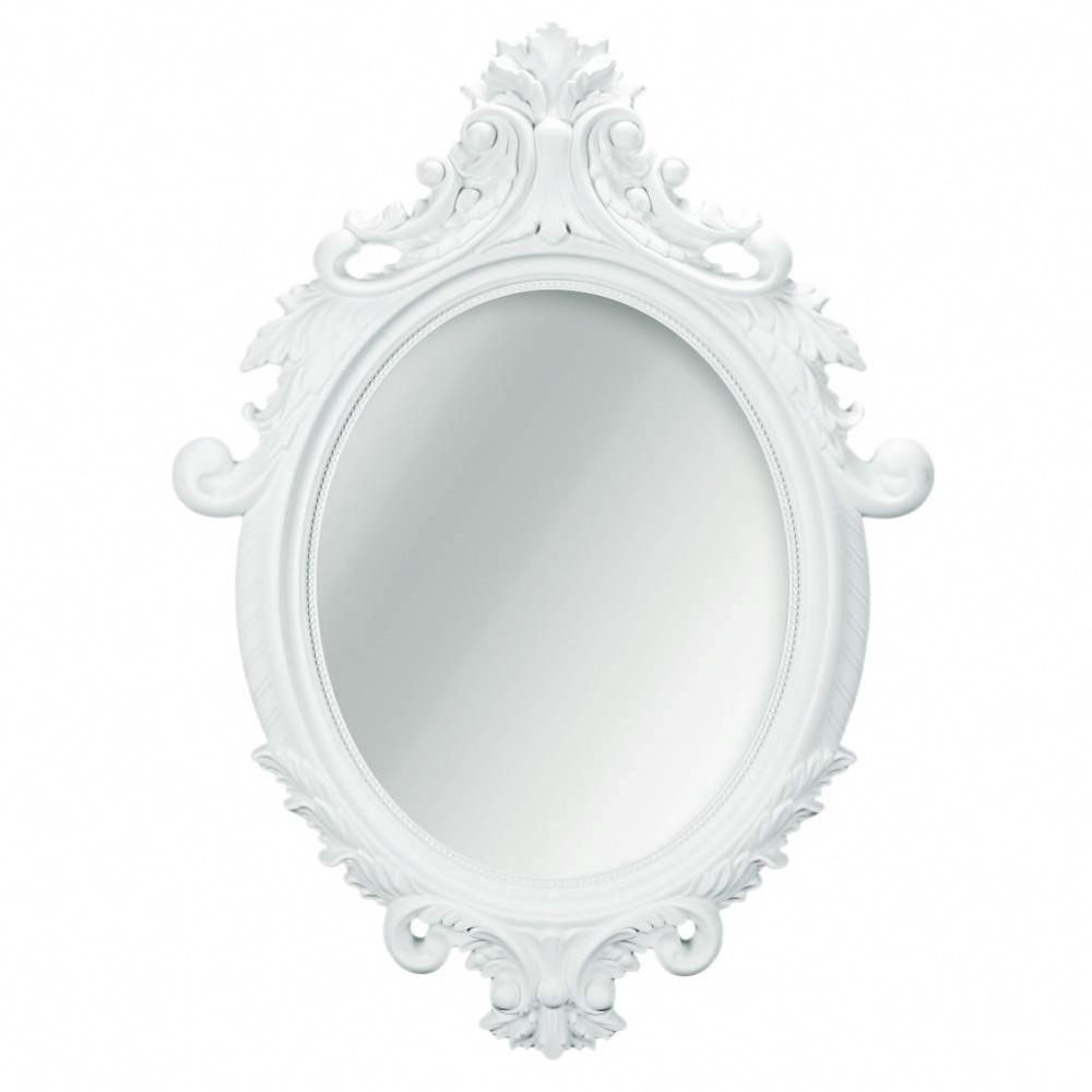 Espelho Oval Rocco Branco  - N Store