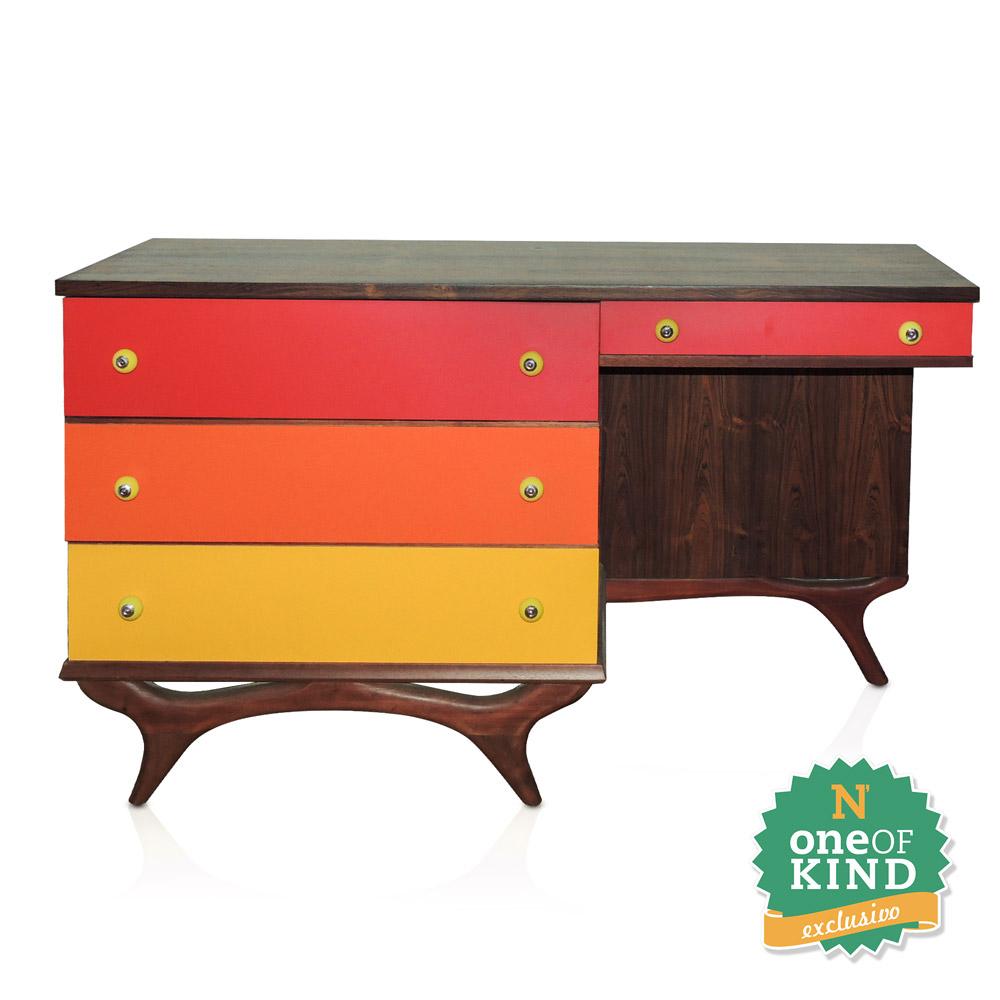 Escrivaninha / Balcão Madeira e Fórmica Colorida  - N Store