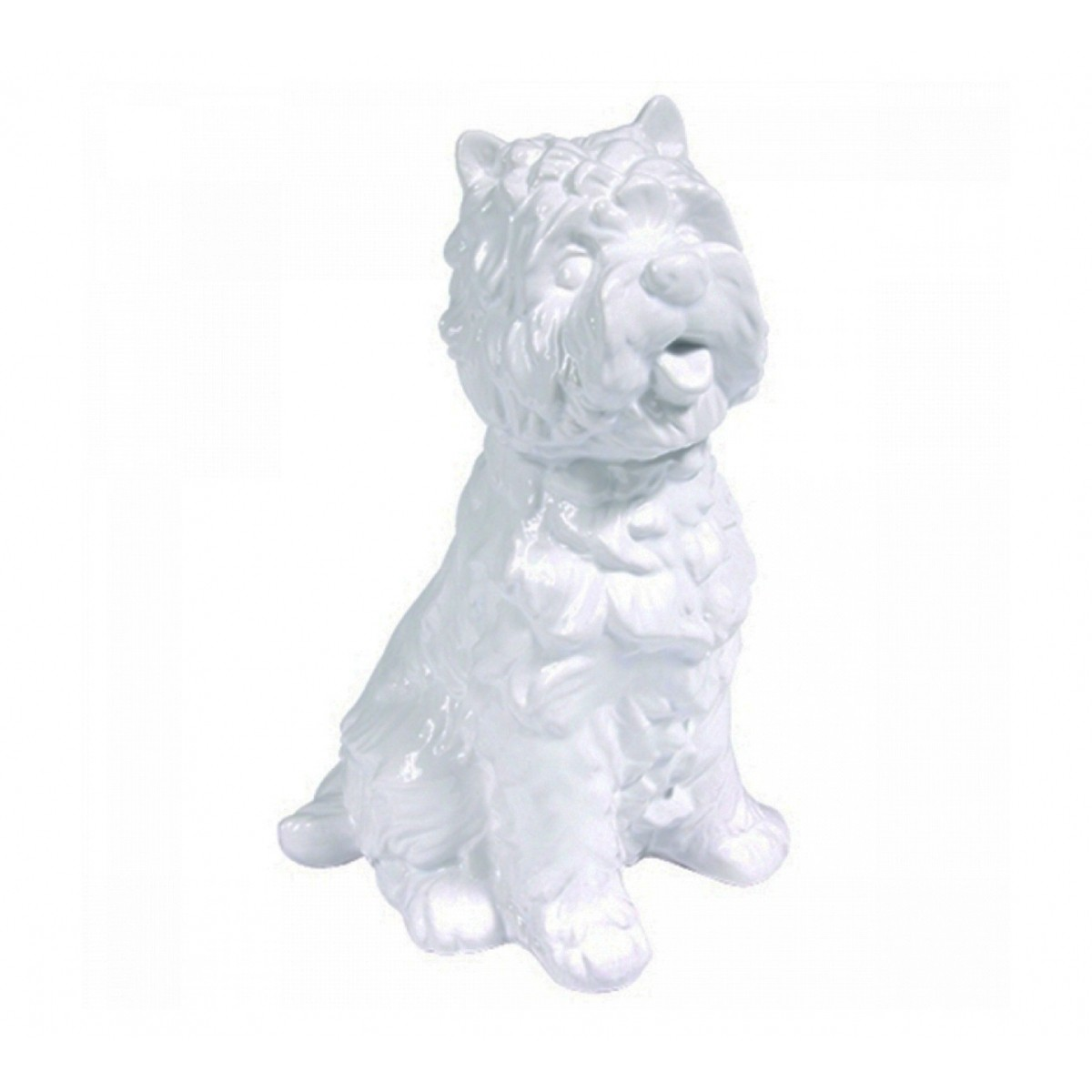 Cachorro Decorativo de Cerâmica - Branco G  - N Store