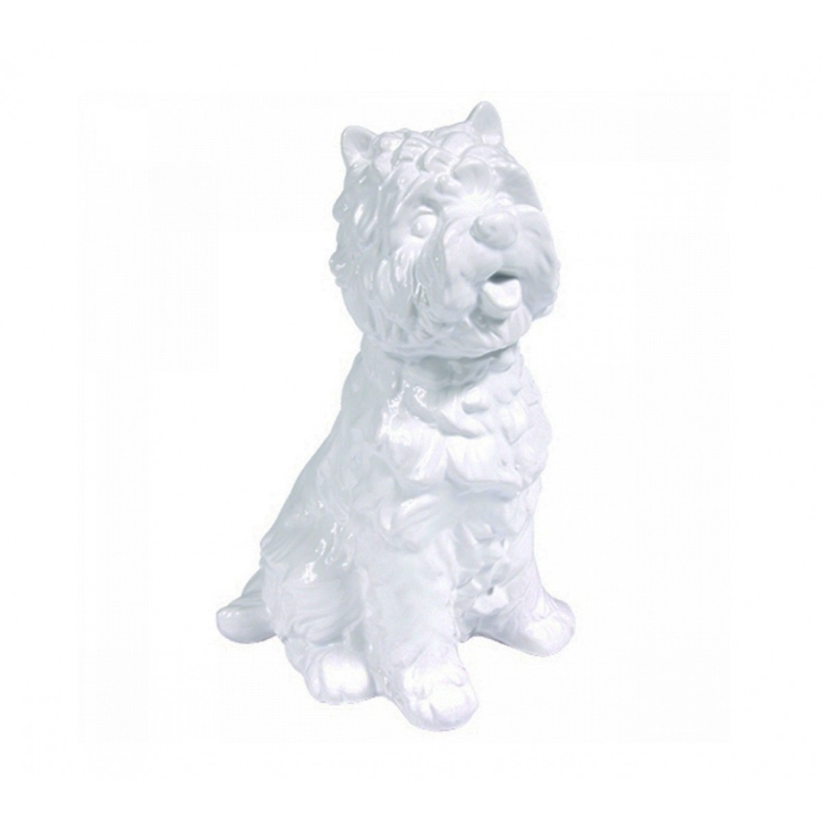 Cachorro Decorativo de Cerâmica - Branco M  - N Store