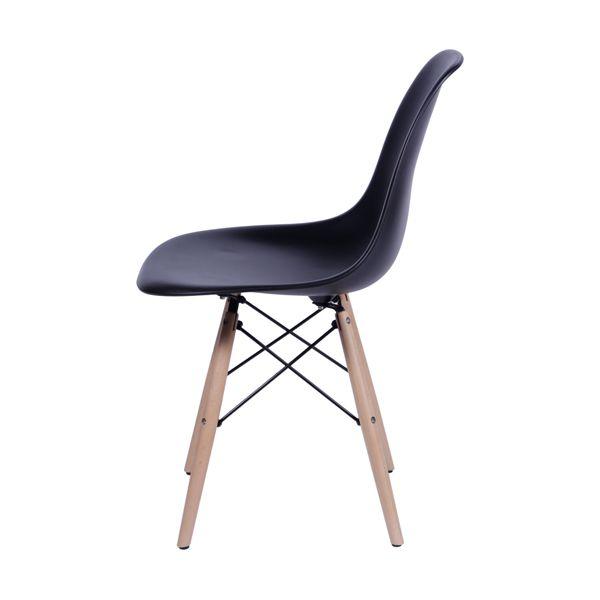 Cadeira Eiffel Charles Eames PP Base Madeira Preta - Or Design  - N Store