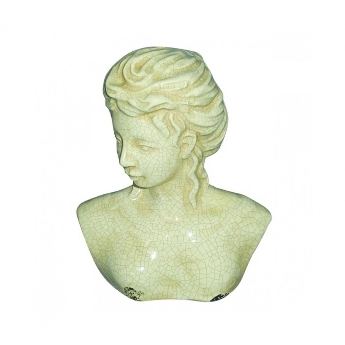Figura Busto Decorativa em Cerâmica  - N Store
