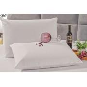 Kit 2 Fronhas Brancas Impermeável Protetora para Travesseiro
