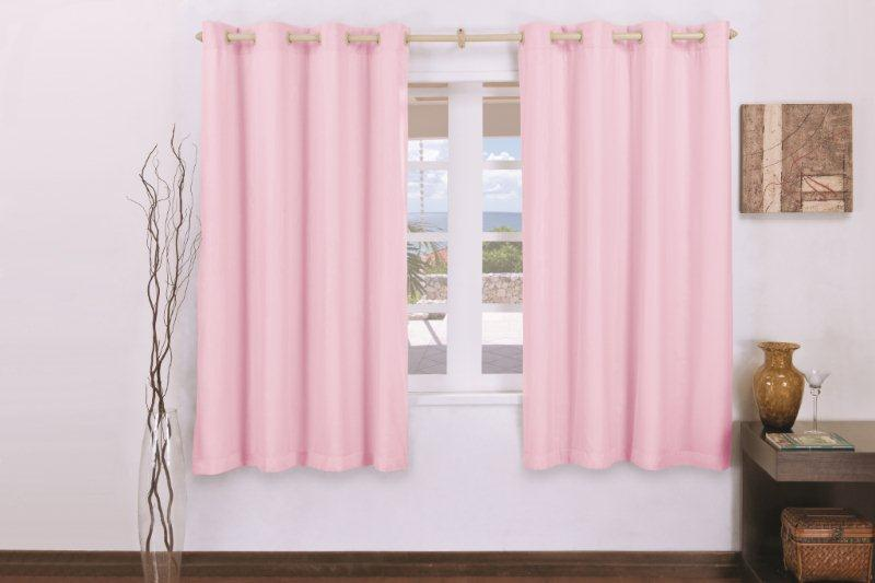 Cortina Corta Luz C/Voal para Varão Simples  - Rose Jordão