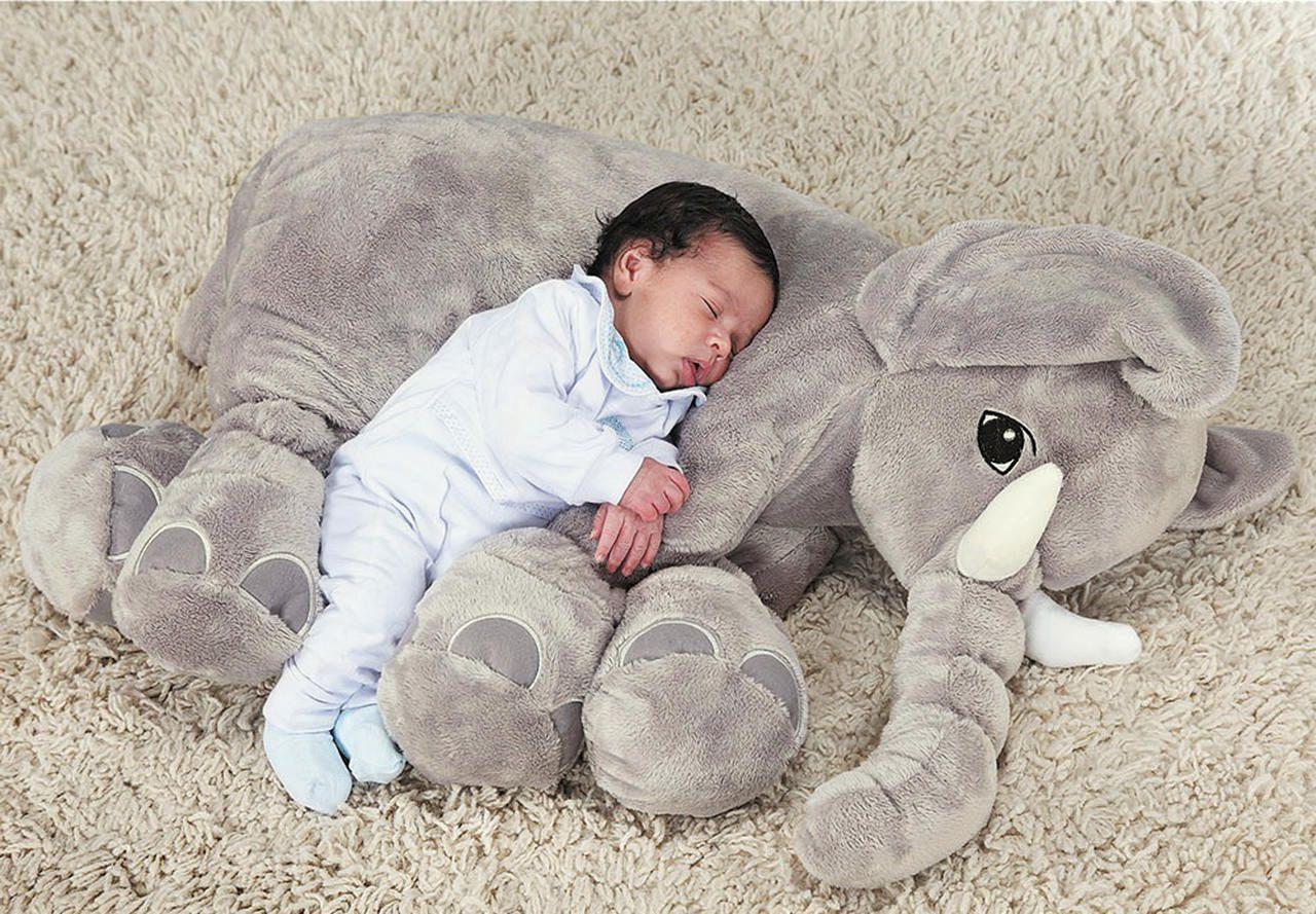 Almofada Travesseiro Elefante Pelucia P  - Rose Jordão