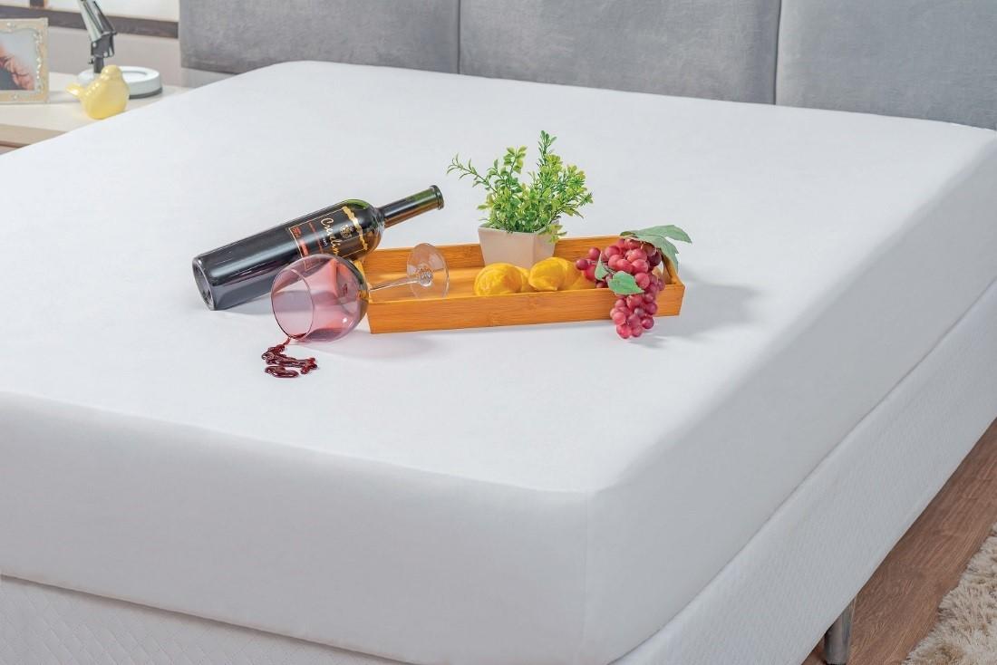 Capa Protetor Impermeável Branca para Colchão Solteiro Box  - Rose Jordão
